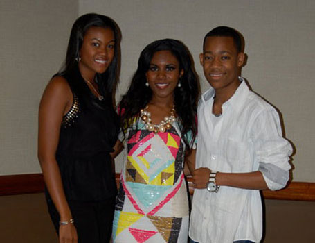 Ariana Pierce with Camara Mathis and Tyler Williams
