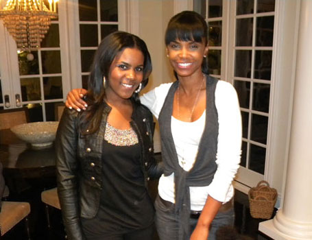Ariana Pierce with Kim Porter
