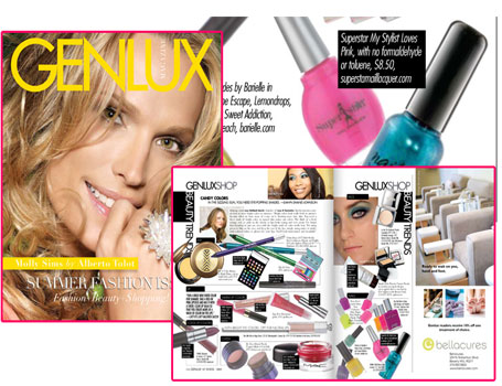 Superstar Nail Lacquer in Genlux Magazine