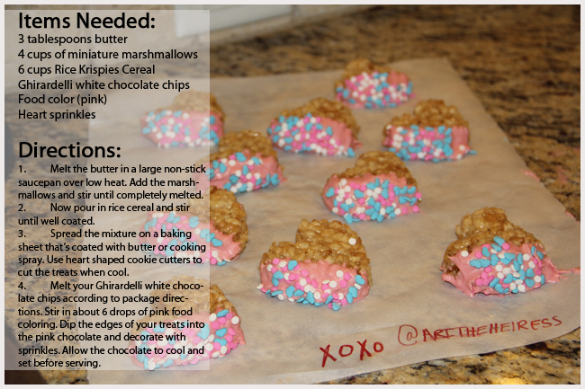 Heart rice krispies treats