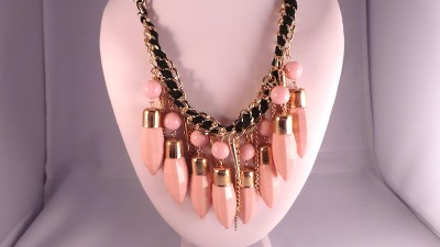 Pink Bullet Necklace