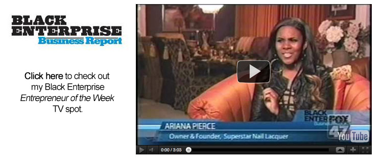 Click here to watch my TV spot on the Black Enterprise Business Report
