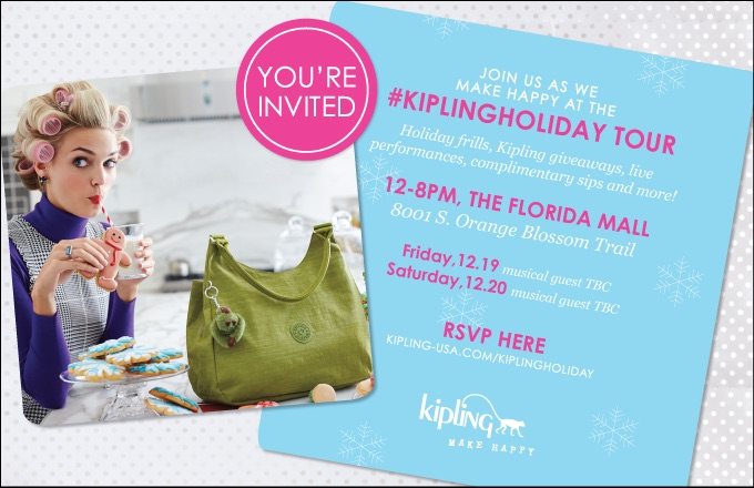 Join me at the Kipling Holiday Tour, click here to RSVP