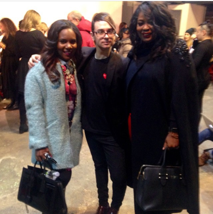With friend, Tami Reed and Christian Siriano